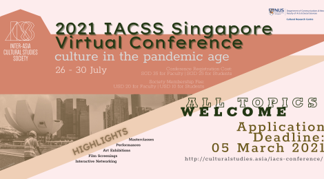 Call for Papers: Culture in the Pandemic Age | Abstract Submission Deadline: 05 March 2021